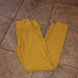 Lula roe yellow leggings one size